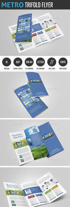 Futuristic Gate Fold Flyer Business flyer templates, Business