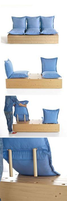 Sectional Garden Sofa Facile By @formabilio | Design Marco Gregori Design  Outdoor Sofa