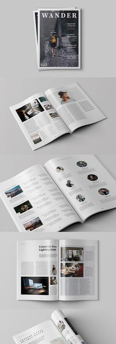 Hipster Journey Magazine Template InDesign INDD Magazine Templates