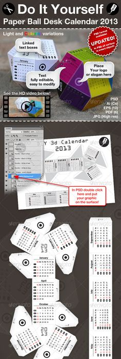 Calendario cnico calendario almanaque pinterest desk 3d diy paper ball calendar 2013 2014 solutioingenieria Choice Image