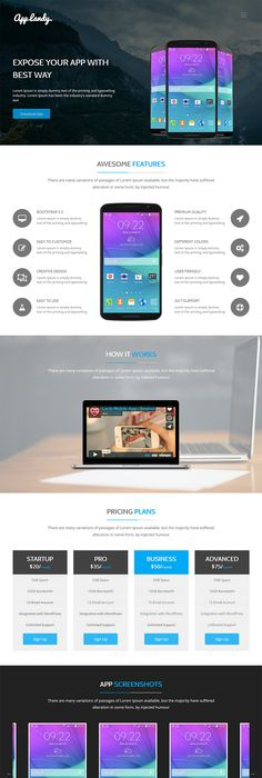 Free App Landing Page HTML Template - AppLayers | Template and App
