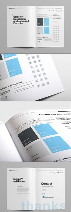 Brand Manual and Identity Template \u2013 Corporate Design Brochure - professional manual template