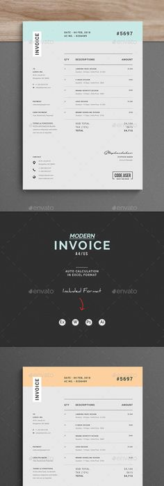 Invoice Template  Colours  Design Shop Template And Creative