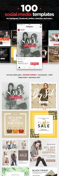 Blog Media Kit Template - 2 Page Media kit template, Media kit and