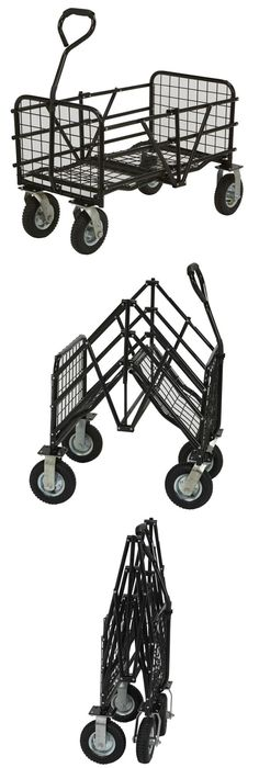 Use This StrongWay Folding Utility Cart To Carry Anything Around The House,  Garden Or Warehouse