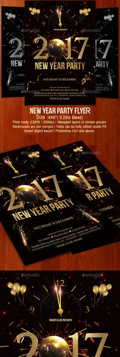 New Years Eve Flyer  Flyer Template Template And Fonts