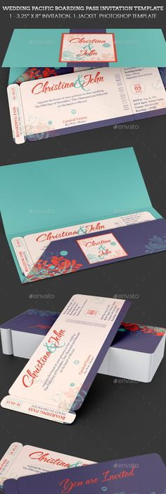 Party-Tales ~ Tutorial ~ DIY How to make a Boarding Pass Invitation - best of invitation template boarding pass