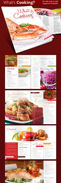 Modern Cookbook Indesign Template  Modern Cookbooks Indesign