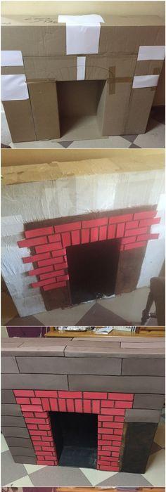 Como Hacer Una Chimenea Navideña How To Make A Cardboard Christmas Fireplace