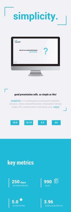 Template Editvel Para Powerpoint Apresentao Simplicidade