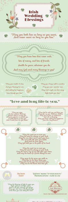 Irish Blessing with the Claddagh for that special bride and groom in ...
