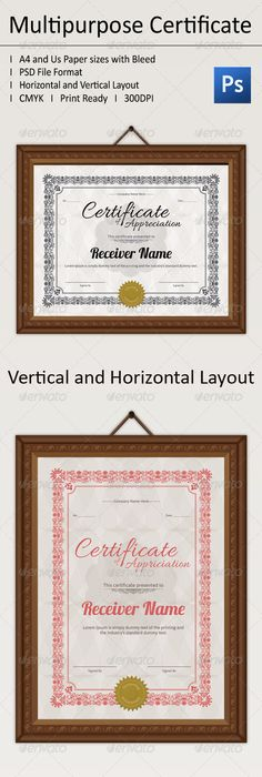 Experience certificates certificate print templates and ai multipurpose certificate pack certificate templatesinfographic templatesadobe photoshopfont yadclub Choice Image