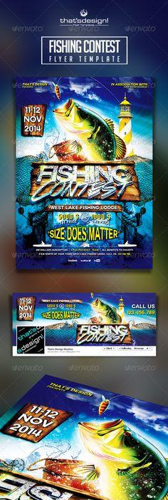 Bass Masters Fishing Tournament Flyer Template Studio Flyers