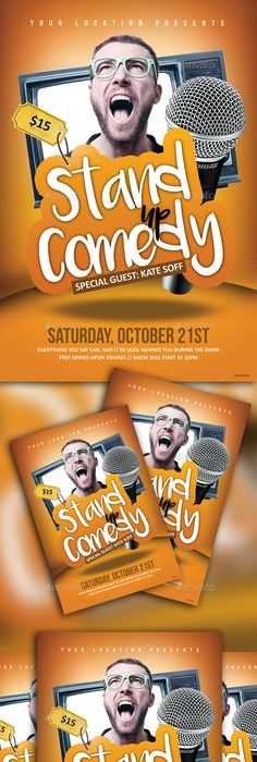 Comedy Show Flyer Template  HttpXtremeflyersComComedyShow