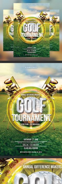 Golf Tournament Flyer Template  Flyer Template Golf And Template