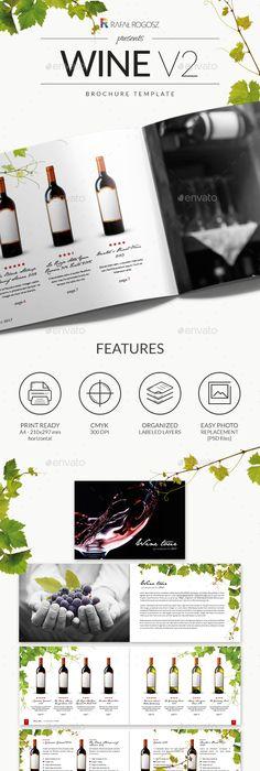 Wine Brochure / Catalogue   Brochures, Wine and Catalog