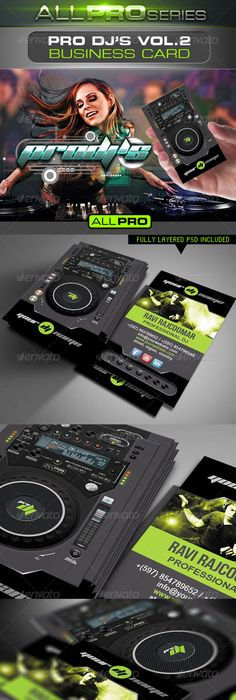 Pro dj business card graphicriver item for sale products i love pro djs business card vol2 reheart Images