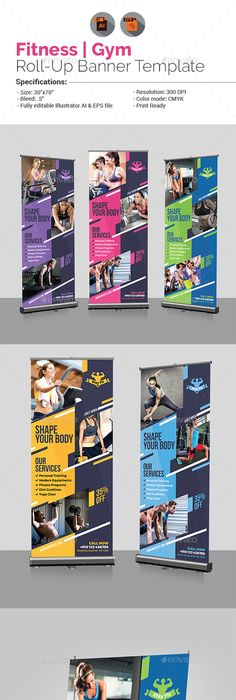 RollUp Banners  Ai Illustrator Banner Template And Banners