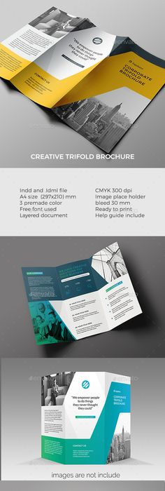 Modern Colorful Stripes Trifold Brochure Template Brochures And