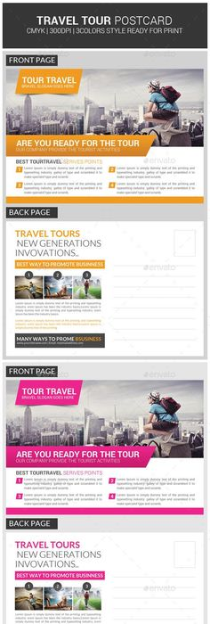 Tour Travel Business Postcard Psd Template