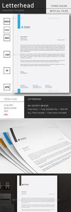 Letterhead vector shapes change colour and letterhead template spiritdancerdesigns