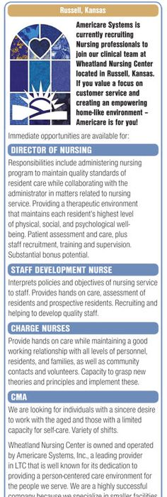 RNs - Unit Manager and Staff wanted in Easton Maryland NEWS-Line