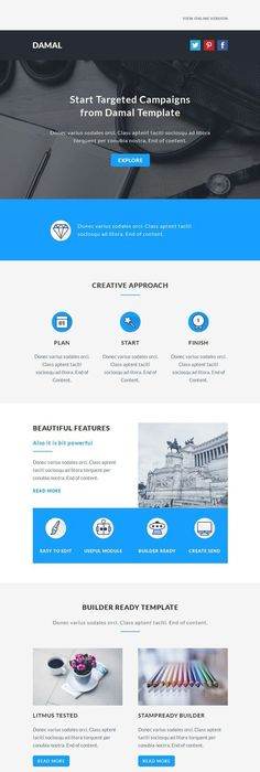 Flattie  Flat Responsive Email Template  Beautiful Email