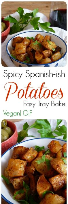 27 easy spanish recipes to throw the best tapas party ever easy spicy spanish potatoes these taste just like patatas bravas that you get in little tapas vegetable paella recipeveggie forumfinder Images