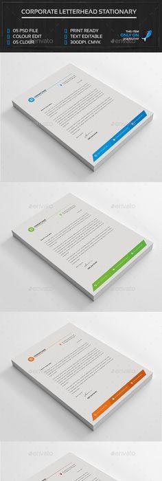 Free Printable Business Letterhead Templates Corporate Business Letterheads Updated  Letterhead Template .