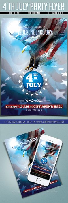 Th Of July Independence Day Flyer  Flyer Template Fonts And