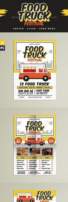 Food Truck Template Food truck, Food menu and Print templates - food truck menu template