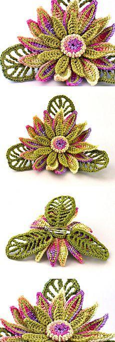Crochet Lotus Flower Free Pattern Video Crochet 3d Flower Motif