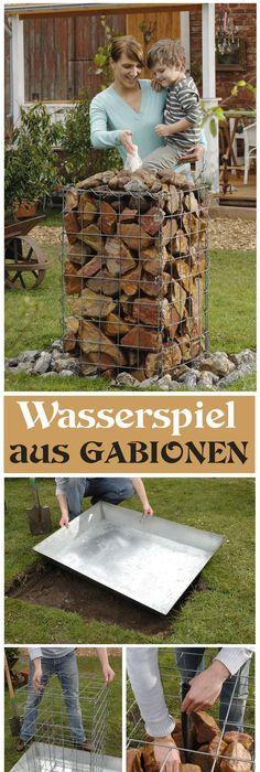 Gartenbrunnen selber machen - Wasserspiele aus Fahrradfelge und