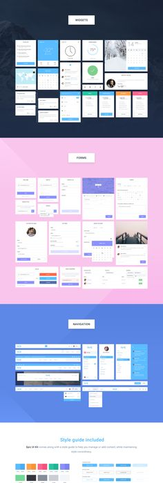 Huge collection of UI resources for Adobe XD | ux / ui | Pinterest ...