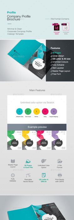 Professional Business Profile Template Company Profile V2  Layout Design  Pinterest  Vector Stock .