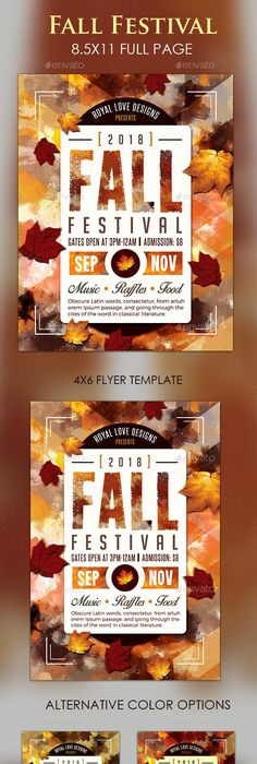 Fall Festival Flyer  Psd Template  Only Available Here