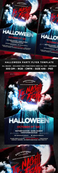 halloween flyer template fonts and event flyers