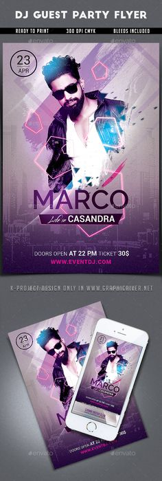 City Night Dj Party Flyer  Dj Party Party Flyer And Flyer Template