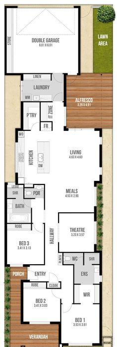 Narrow Lot House Design - Genesis Ground Floor   Arq   Pinterest ...