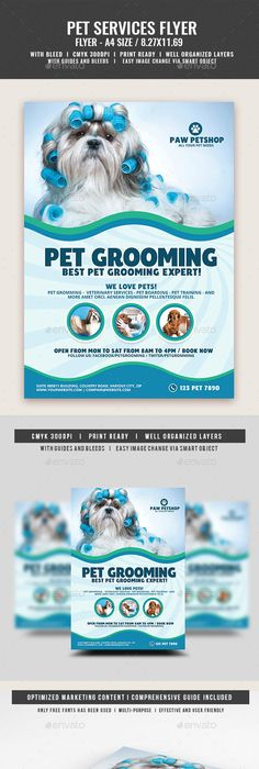 Pet Grooming Salon Flyer Template Grooming Salon Pet Grooming And