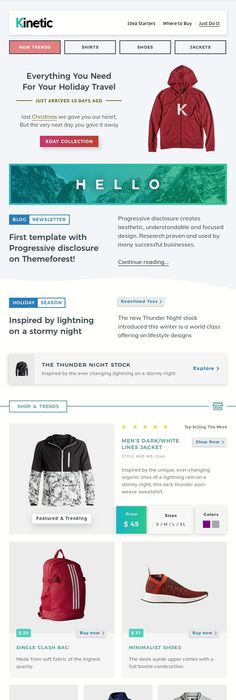 Kinetic Interactive Emails Robust Editor Editor - Interactive email template