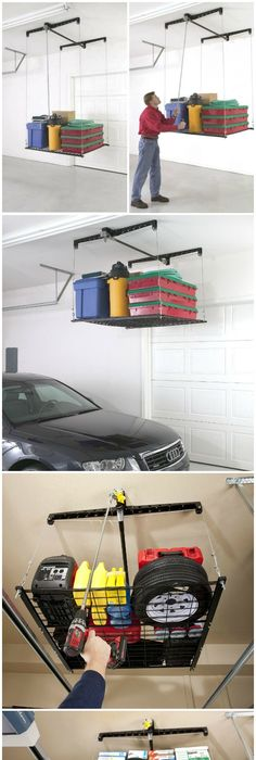 Racor HeavyLift Is The Ceiling Mounted Garage Elevator That Lets You Load And Lift Storage