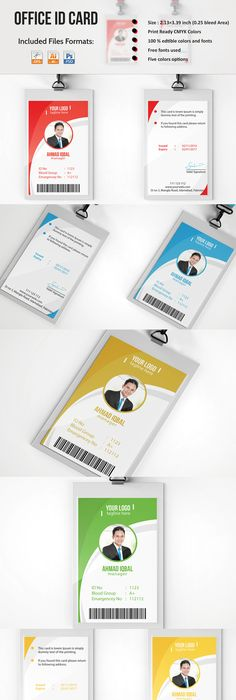 TemplateForIdentificationCard  Id Badge    Template