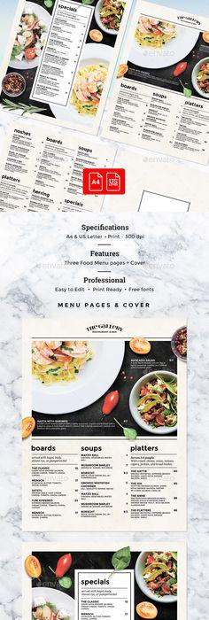 Deluxe Food Menu  A Flyer Menu  Food Menu Print Templates And A