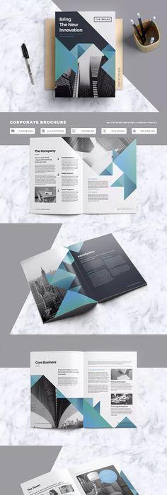 Company Profile Brochure InDesign Template   Company profile ...