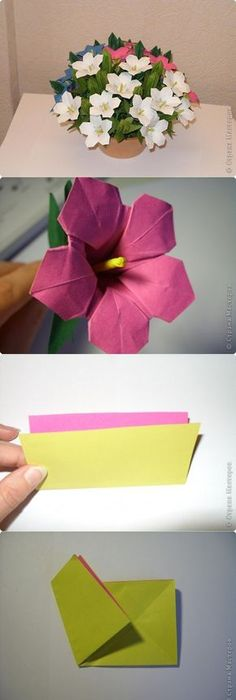 How to make paper flowers using origami the art of paper folding fun how to make paper flowers using origami the art of paper folding fun paper diy on mightylinksfo Choice Image
