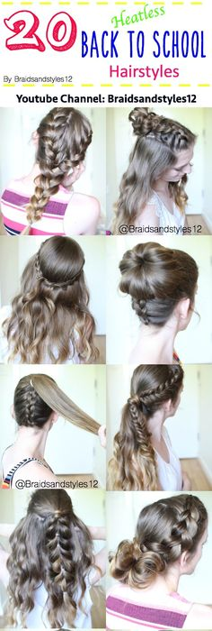 65 Quick and Easy Back to School Hairstyles for 2017 | School ...