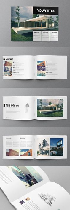 Minimal Architecture Brochure Layouts Architecture Portfolio And