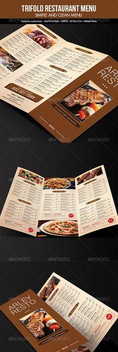 Vintage Menu  Food Menus Print Templates  Download  Https