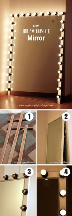 How To Make A Vanity Mirror With Lights Amusing Diy Makeup Mirror With Lights  Vanities Lights And Room